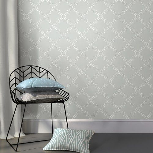 Grey Quatrefoil Peel And Stick Wallpaper Brewsters Nuwallpapers 54 99 Grey Contempory Tre Nuwallpaper Quatrefoil Wallpaper Peel And Stick Wallpaper