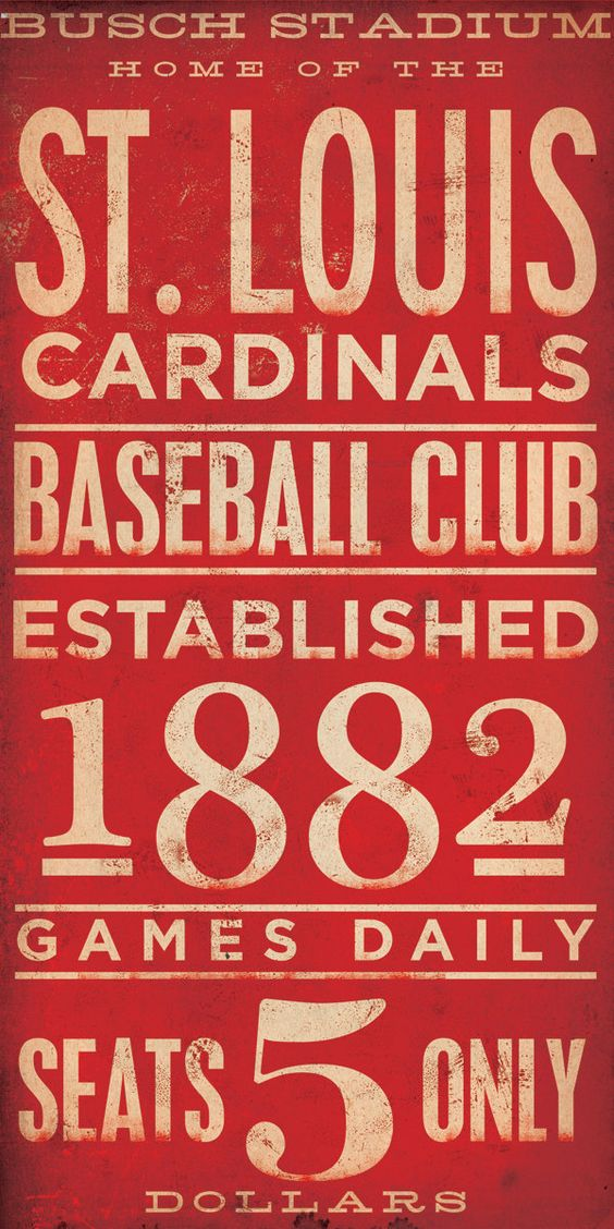 StL Cardinals vintage sign....LOOOOOVVVVEEEEEE
