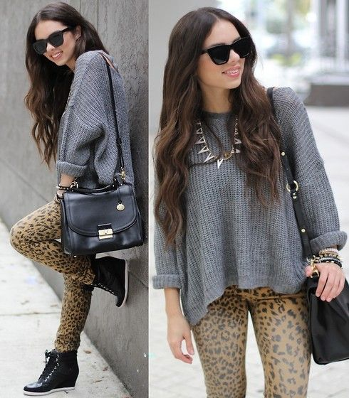 Brahmin Bag, Target Leopard Jeans, Beginning Boutique Necklace, Pink & Pepper Sneakers, Joa+Closet Jumper, Furor Moda Sunglasses