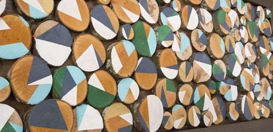 Mural de madera