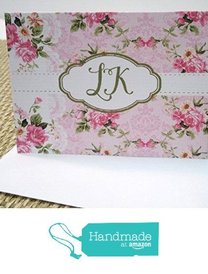 Personalized Monogramed Stationery Set, Personalized Note cards, Personalized Thank you cards, Set of 12 folded note cards and envelopes. from Mis Creaciones by Patricia Chalas http://www.amazon.com/dp/B01DOY0HG0/ref=hnd_sw_r_pi_dp_6oM.wb0VA8DXH #handmadeatamazon