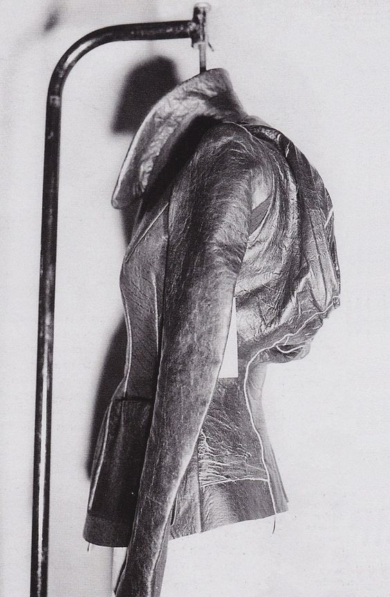 Rick Owens leather jacket, The Leather Book: Acomprehensivehistory of Leather,Anne-Laure Quilleriet