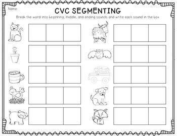 math worksheet : cvc segmenting freebie!  use as follow up activity for cvc  : Phoneme Segmentation Worksheets Kindergarten