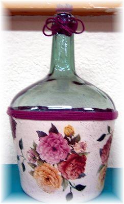 Rosabel manualidades reciclado de cristal pinterest - Rosabel manualidades ...