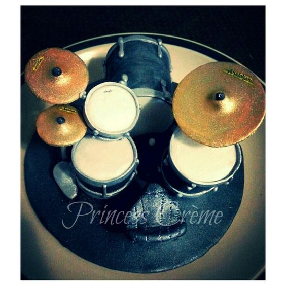 Drum Kit Cake Topper Dekor Decor Pinterest Cake