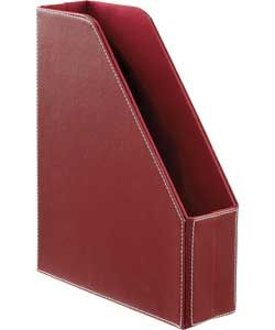 Buy Leather Effect Magazine Storage File - Red at Argos.co.uk -