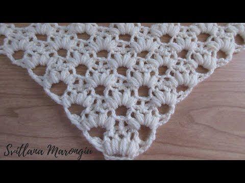 vasta gamma nuovo di zecca abile design Punto semplice per scialle all'uncinetto - YouTube | Crochet ...