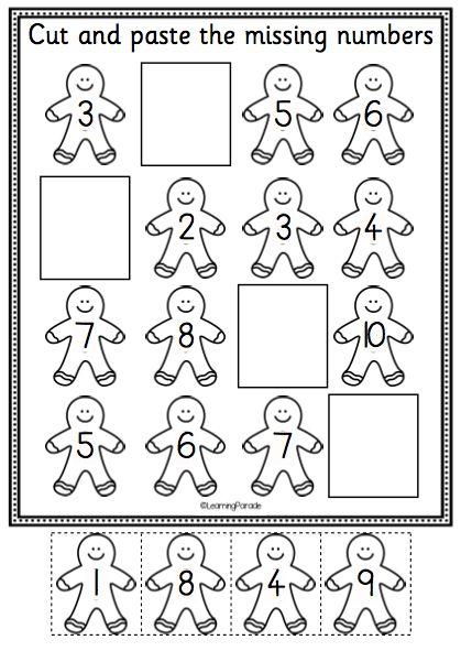 Free Worksheets Christmas Printables Kindergarten Free