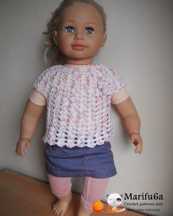 Free crochet patterns and video tutorials: how to crochet baby top or dress to 1 year for beginers free pattern tutorial