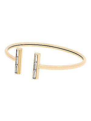 Michael Kors Black Tie Affair Flexi Crystal Cuff Bracelet/Goldtone - G