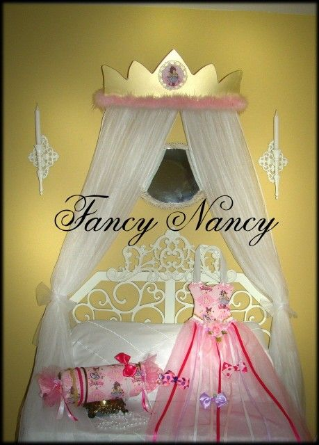 FANCY NANCY Custom Princess CROWN canopy for by SoZoeyBoutique, $39.99