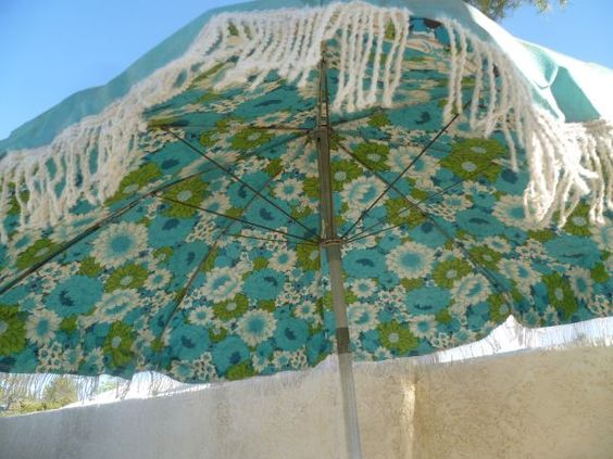 Floral Umbrellas Table Umbrella And Summer Vacations On