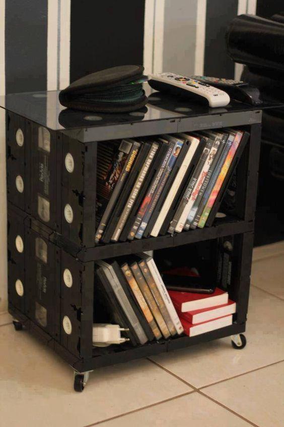 fitas de video-cassetes recicladas: