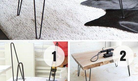 Einfache Holzprojekte Diy Couchtisch Naturliche