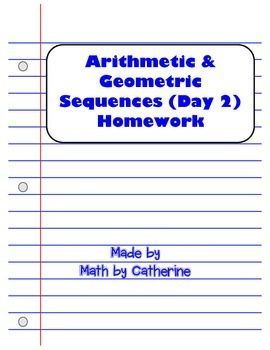 arithmetic and geometric sequences worksheets 7th grade geometry common core style april. Black Bedroom Furniture Sets. Home Design Ideas
