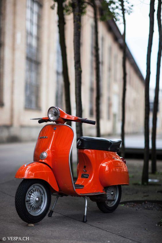Vespa Primavera 1975, Orange, im O-Lack, Originallack, Vespa Smallframe wie Vespa 50SS, ET3, VE8PA.CH-16