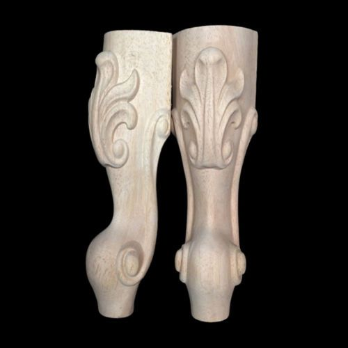 4pcs European Style Solid Wood Carved Furniture Foot Legs Tv Cabinet Couch Sofa Furniture Legs Carved Table Carved Furniture