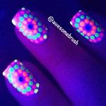 Neon Dots under Black Light