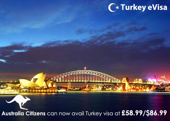 #turkeyevisa Visa fees for #Australia £58.99/$86.99 includes evisa-turkey-tr.org's service charge of 18 pounds + #government fees.