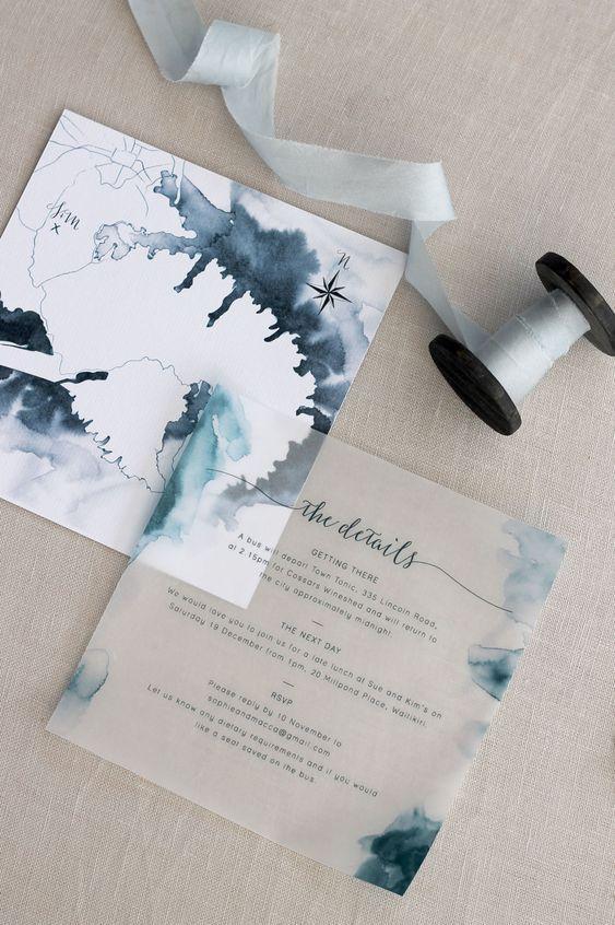 Elegant Rustic Transparent Translucent Boho Diy Wedding Invitation