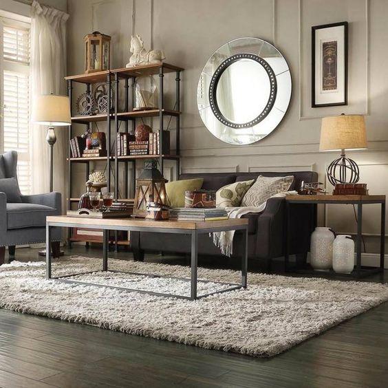 Personnalisez votre salon avec le meuble tv industriel tables tvs et d co - Salon style industriel ...