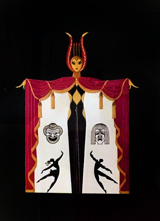 Broadway in Fashion 1978 by  Erte - Embossed Serigraph: