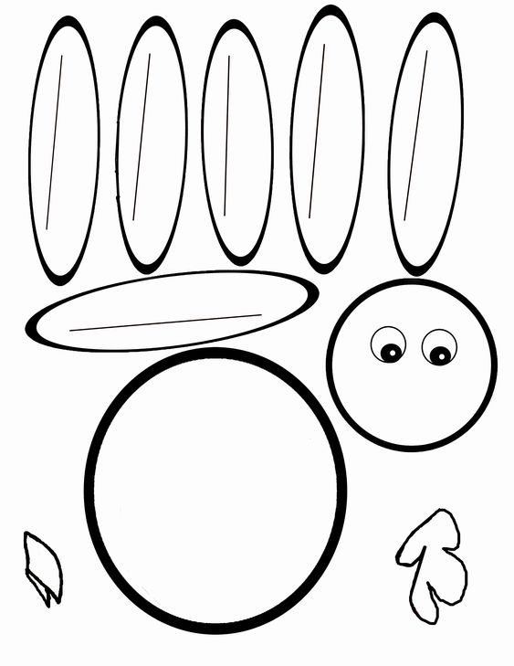 Turkey templates printable here is the pdf for the blank turkey picture to have the child for Blank turkey template