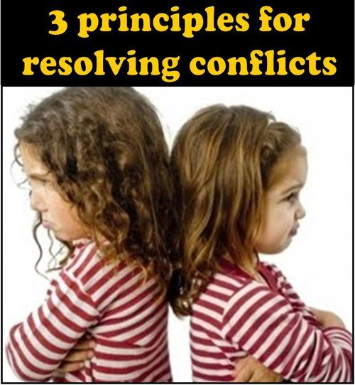 """3 Principles For Reducing Conflict"""