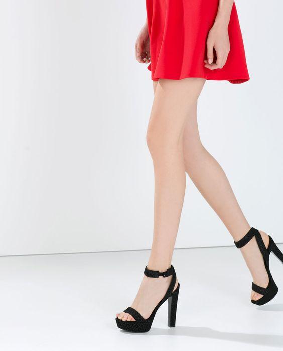 HIGH HEEL PLATFORM SANDAL-Shoes-Woman-SHOES & BAGS | ZARA ...