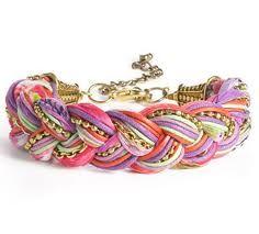 Braided yarn bracelet