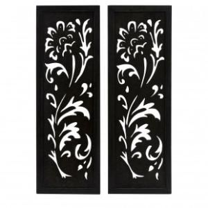 IMAX Carolina Pierced Metal Wall Decor (Set of 2) - 12328-2 -