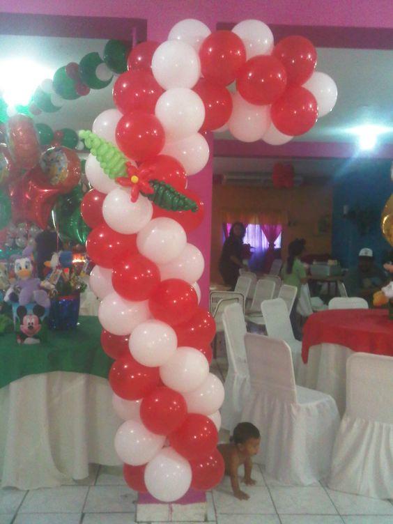 Bast n navide o en globos decoraciones con globos - Decoraciones con globos ...