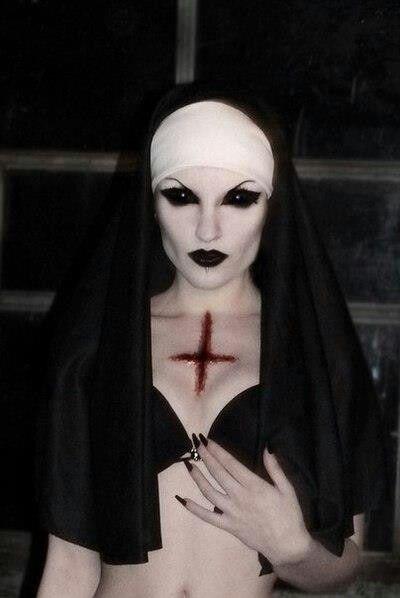 scary sexy Evil nun for halloween