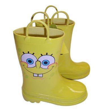 Nickelodeon Spongebob Squarepants Boy's Rain Boots Size Small 7-8 ...