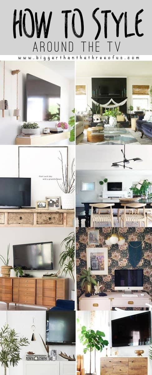 How To Decorate Around A Tv Decor Wall Mounted Tv Tv Console Decorating