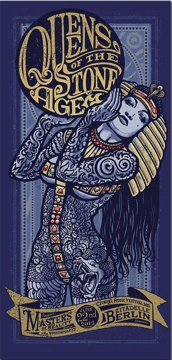 Queens of the Stone Age & Portishead gig posters by Lars P. Krause