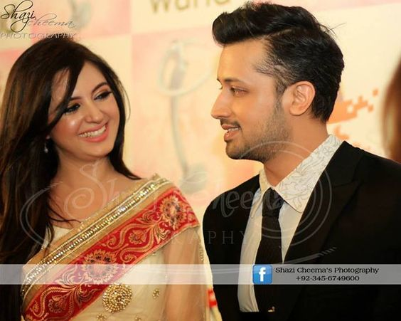 Atif Aslam with his Wife | Atif Aslam | Pinterest | Atif Aslam