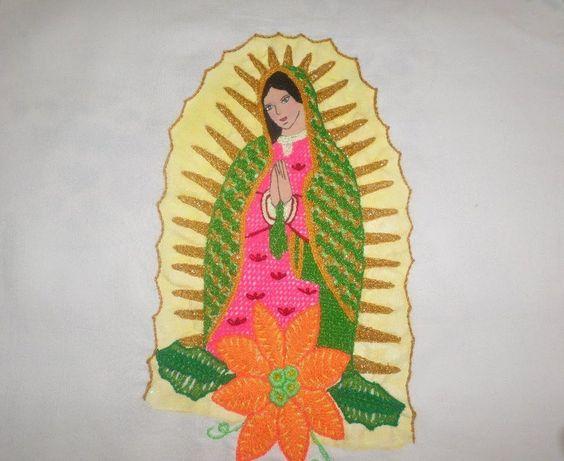 Bordado Fantasia Virgen Terminada