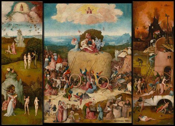 «Heuwagen-Triptychon», Innenseite, etwa 1510–1516. (Bild: Museo Nacional del Prado, Madrid / Bosch Research and Conservation Project)