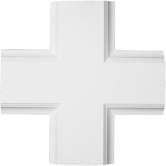 "Ekena Millwork CC08ICI02X20X20TR 20""W x 2""P x 20""L Inner Cross Intersection for 8"" Traditional Coffered Ceiling System:"