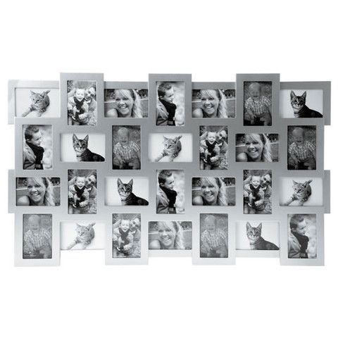 28 In 1 Collage Photo Frame Silver Large Multi Frame