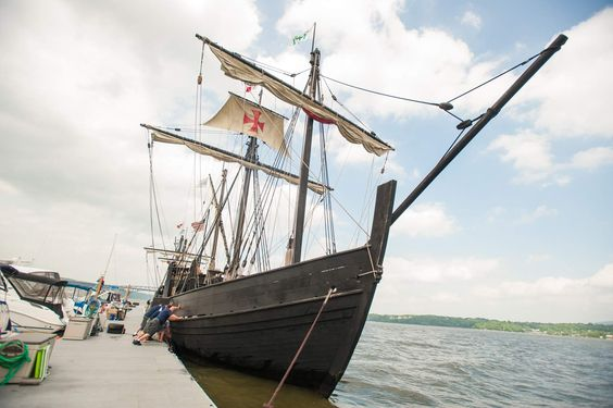 Nina, Pinta replicas dock in Newburgh Crews sailed replicas of Christopher Columbus' ships the Pinta and the Nina on the Hudson River on Wednesday, and docked the ships at Riverfront Marina. The ships will be open to the public for a fee on Thursday, May 28, until Monday, June 1.