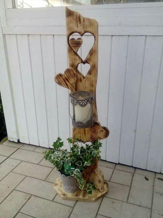 Gartendeko Aus Holz Und Metall ~ Hochzeit on Pinterest