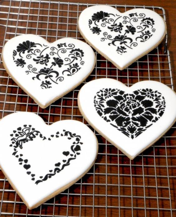 black and white valentines