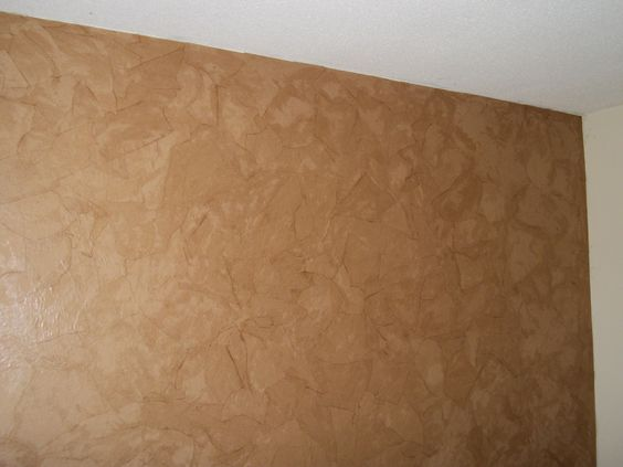 Faux Leather Wall With Brown Paper Tear Off Pieces And