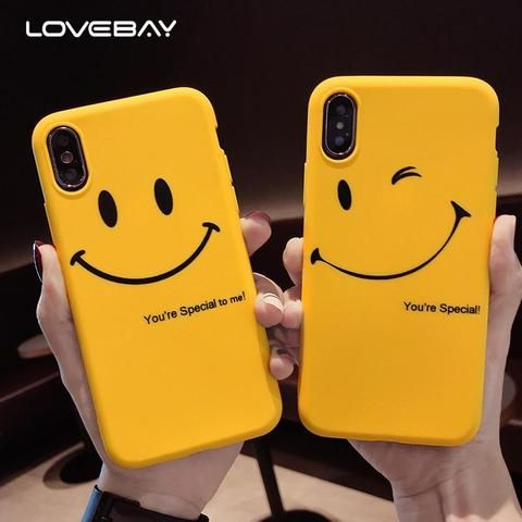 Lovebay Cute Smile Emoji Phone Case For Iphone X 8 7 6 6s Plus Funny Letter Soft Tpu Silicone Cover Case For Emoji Phone Cases Cute Phone Cases Bff Phone Cases