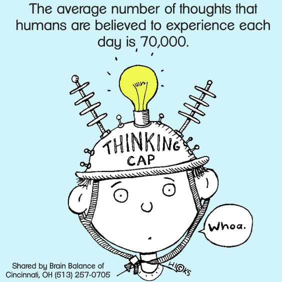 The average number of #thoughts that #humans are #believed to #experience each day is 70,000. #thinking #brainfacts #interesting #facts #BrainBalance #addressthecause #cincinnati #OH