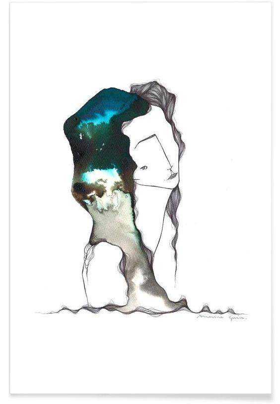 Laia as Premium Poster by Marina Guiu | JUNIQE