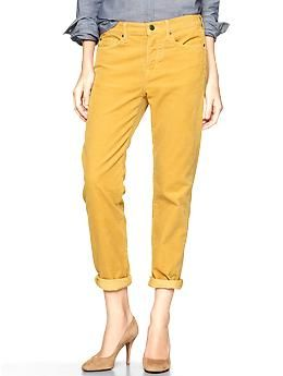 1969 sexy boyfriend cords | Gap in a great mustard yellow!!