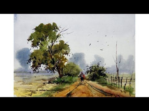 Easy Watercolor Landscape For Beginners By Sikander Singh